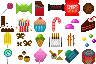 Sweets and Snacks icon/pixelart