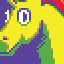 Fabulous Unicorn icon/pixelart