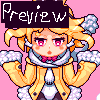 Usaria in the sky icon/pixelart